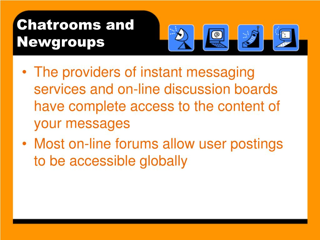 Chatrooms and Newgroups