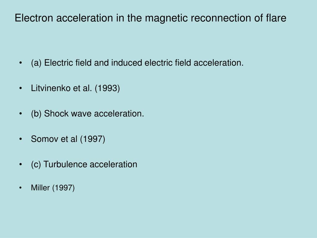 Electron acceleration in the magnetic reconnection of flare