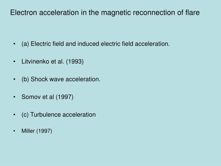 Electron acceleration in the magnetic reconnection of flare l.jpg