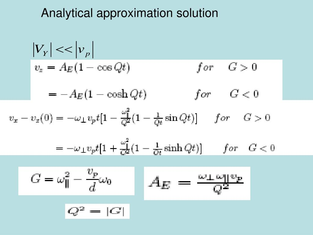 Analytical approximation solution