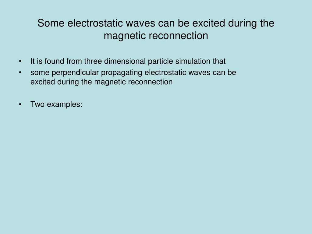 Some electrostatic waves can be excited during the magnetic reconnection
