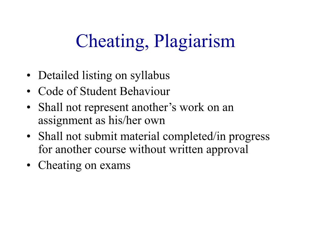 Cheating, Plagiarism