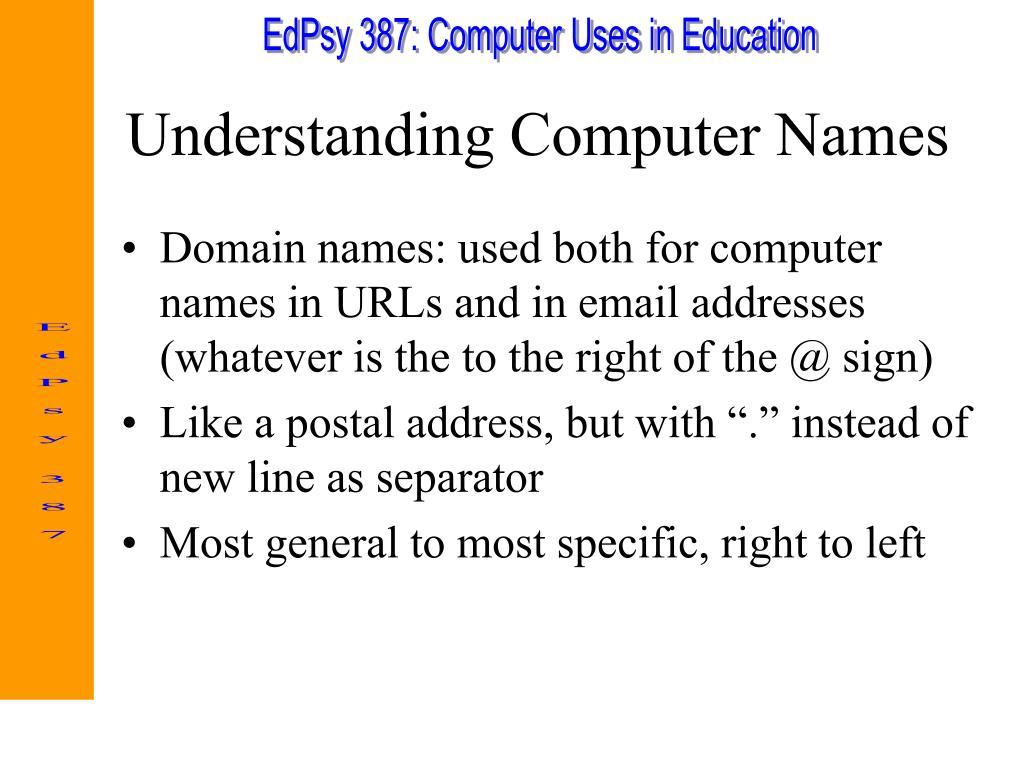 Understanding Computer Names