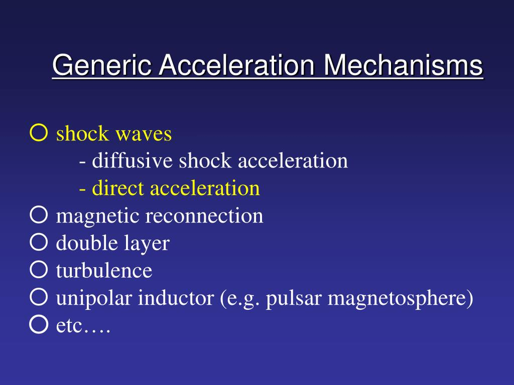 Generic Acceleration Mechanisms
