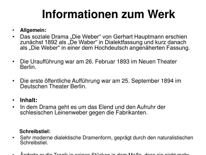 Informationen zum Werk