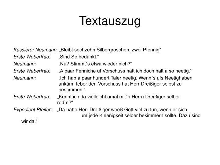 Textauszug