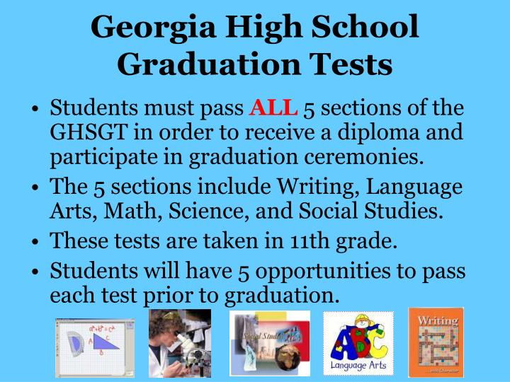 Georgia High School Graduation Tests