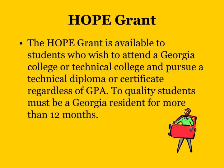 HOPE Grant