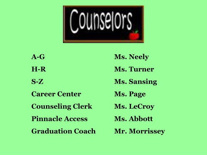 A-G				Ms. Neely