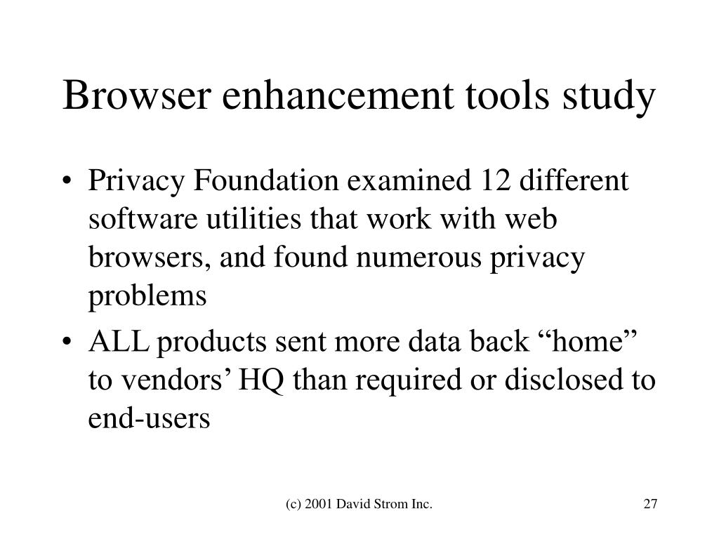 Browser enhancement tools study