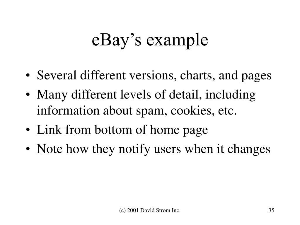 eBay's example