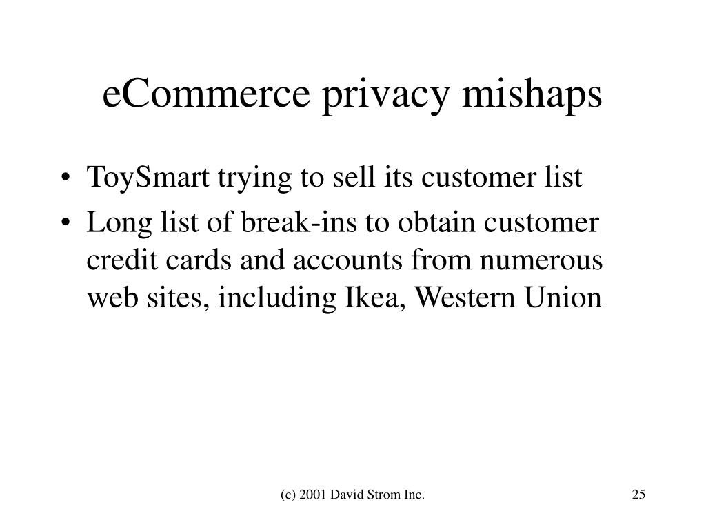 eCommerce privacy mishaps