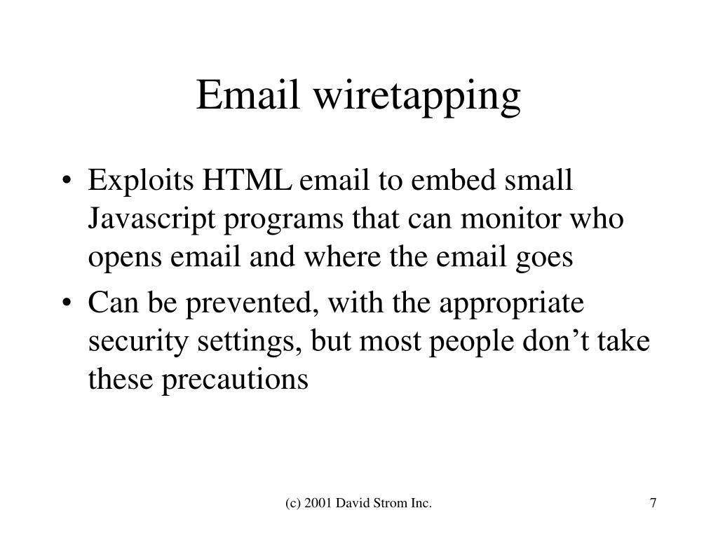 Email wiretapping