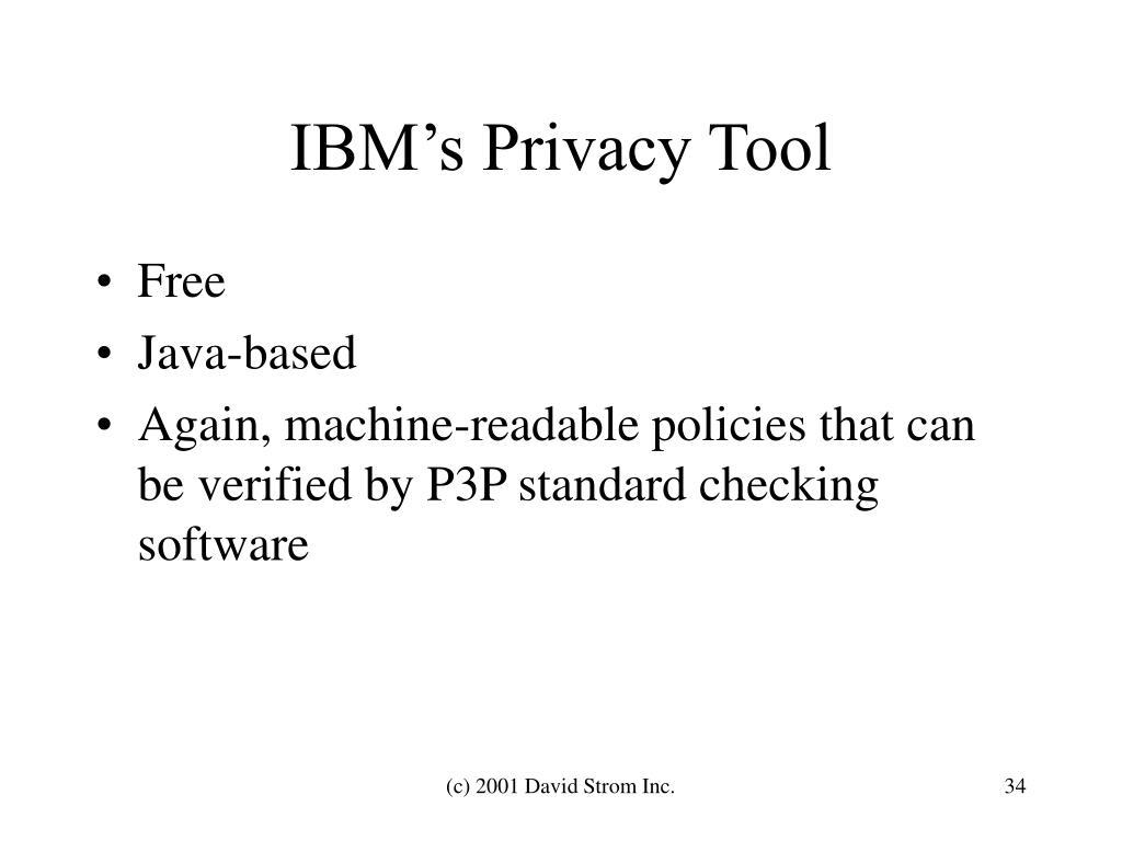 IBM's Privacy Tool