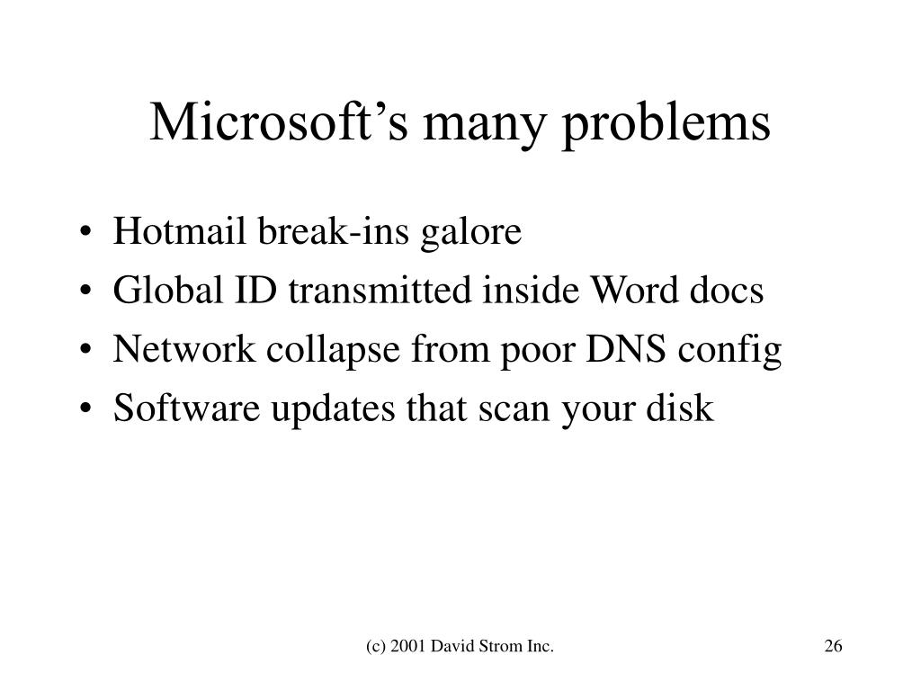 Microsoft's many problems