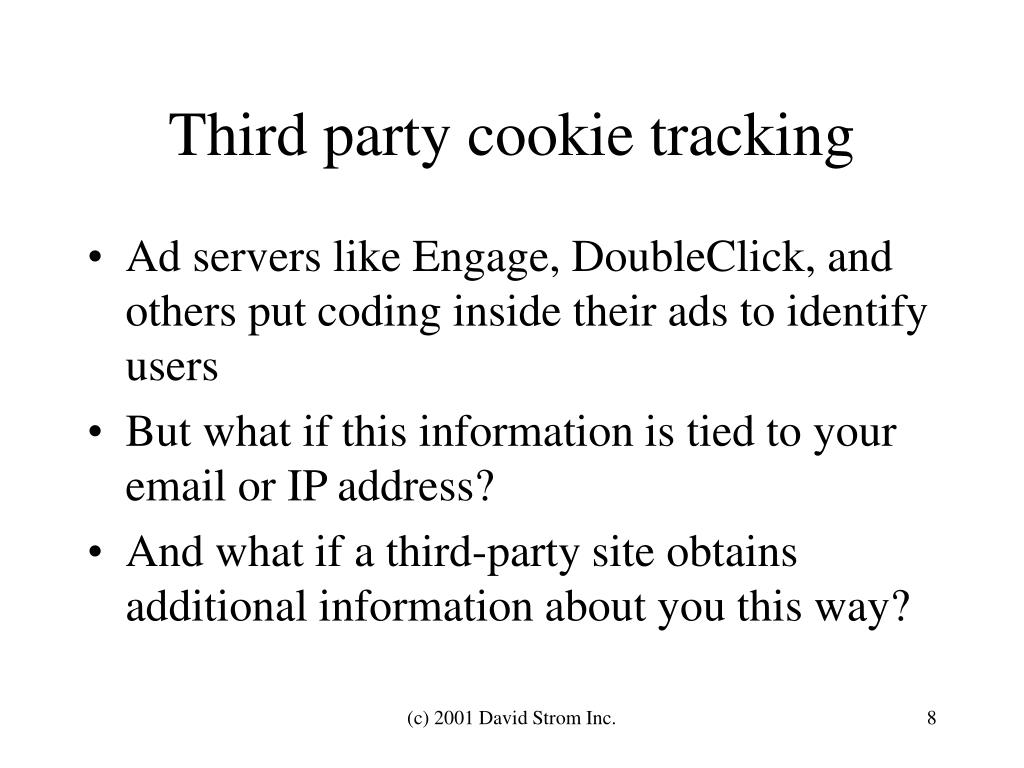 Third party cookie tracking