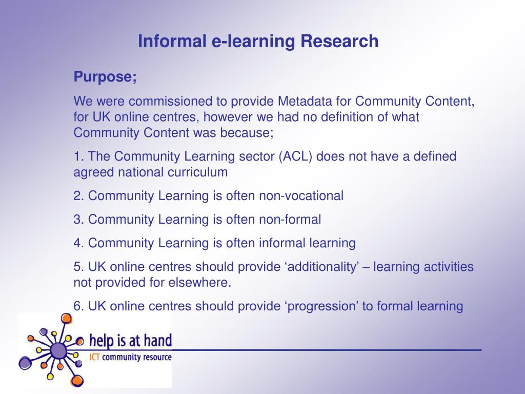 Informal e-learning Research
