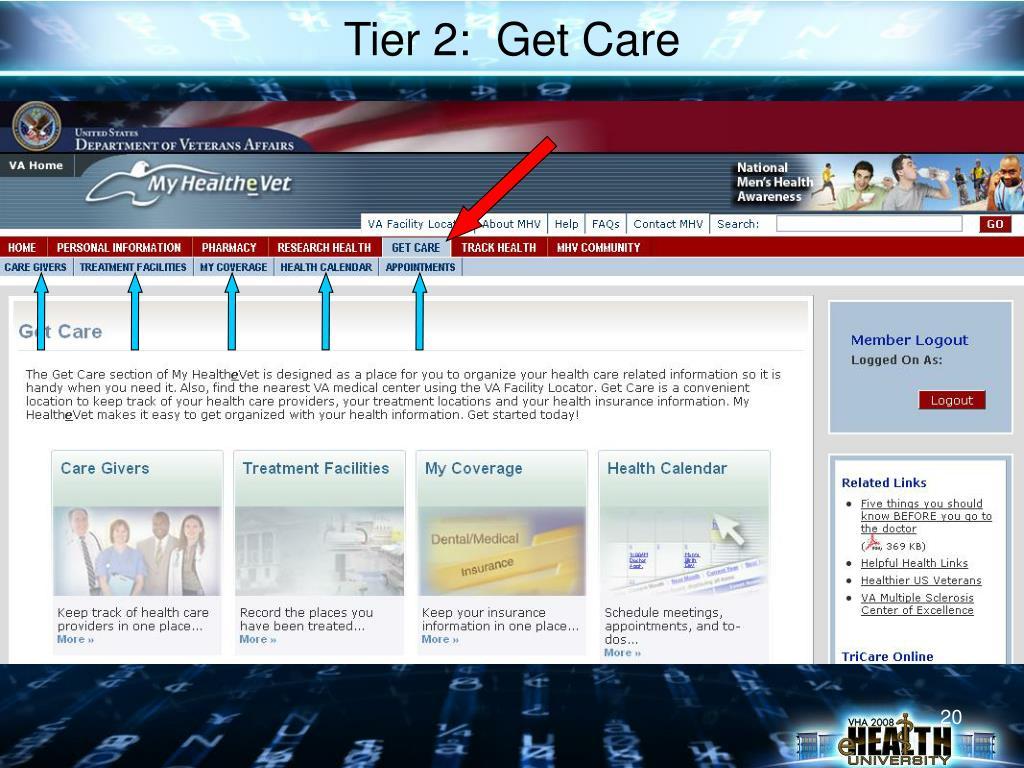 Tier 2:  Get Care