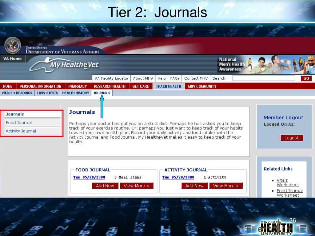 Tier 2:  Journals