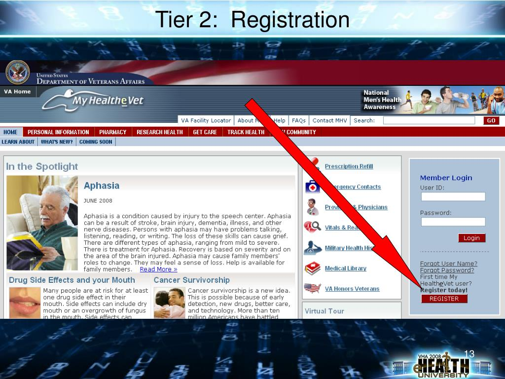 Tier 2:  Registration