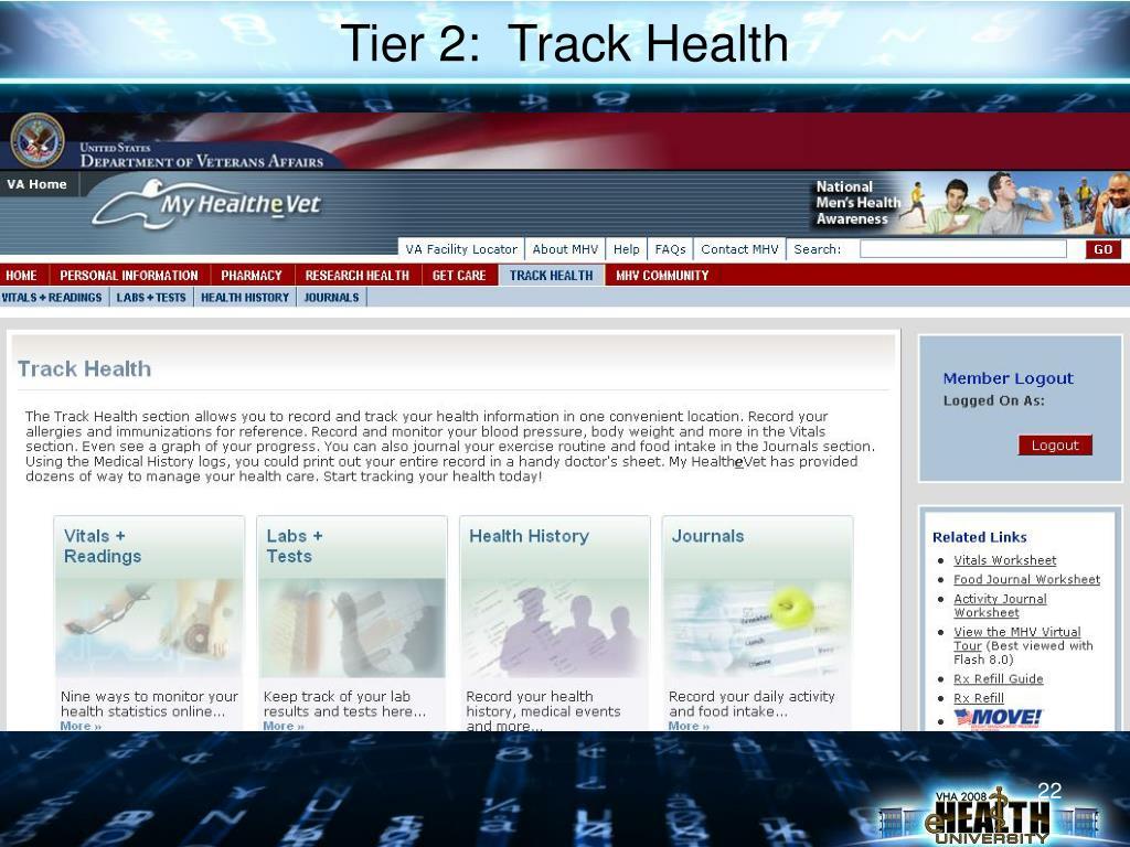 Tier 2:  Track Health