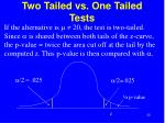 two tailed vs one tailed tests