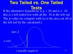 two tailed vs one tailed tests34