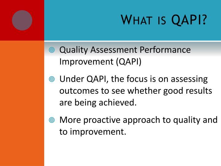 What is QAPI?