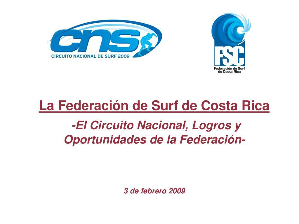La Federación de Surf de Costa Rica