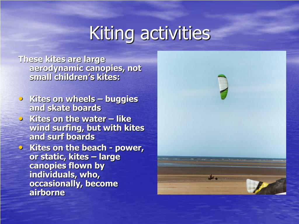 Kiting activities