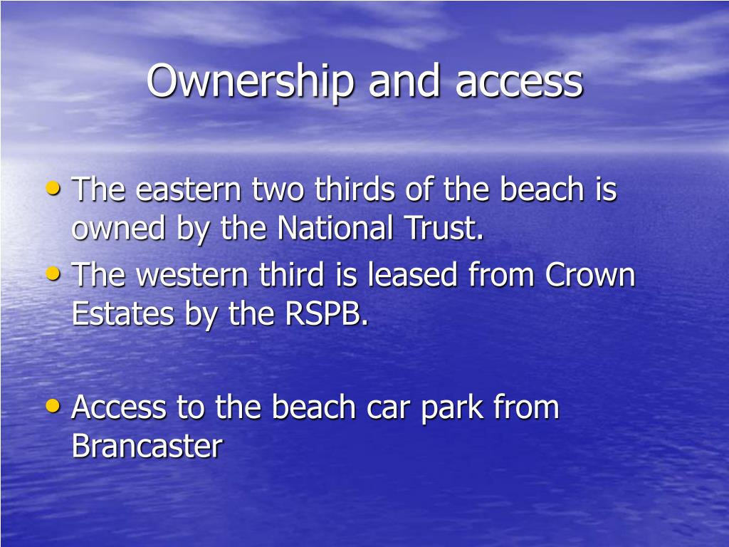 Ownership and access