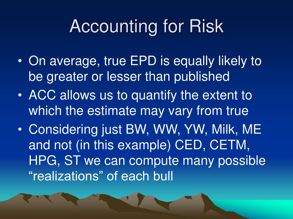 Accounting for Risk