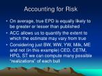 accounting for risk39