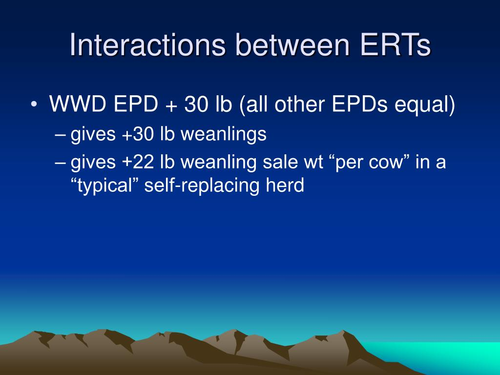 Interactions between ERTs