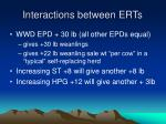 interactions between erts23
