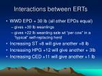 interactions between erts24