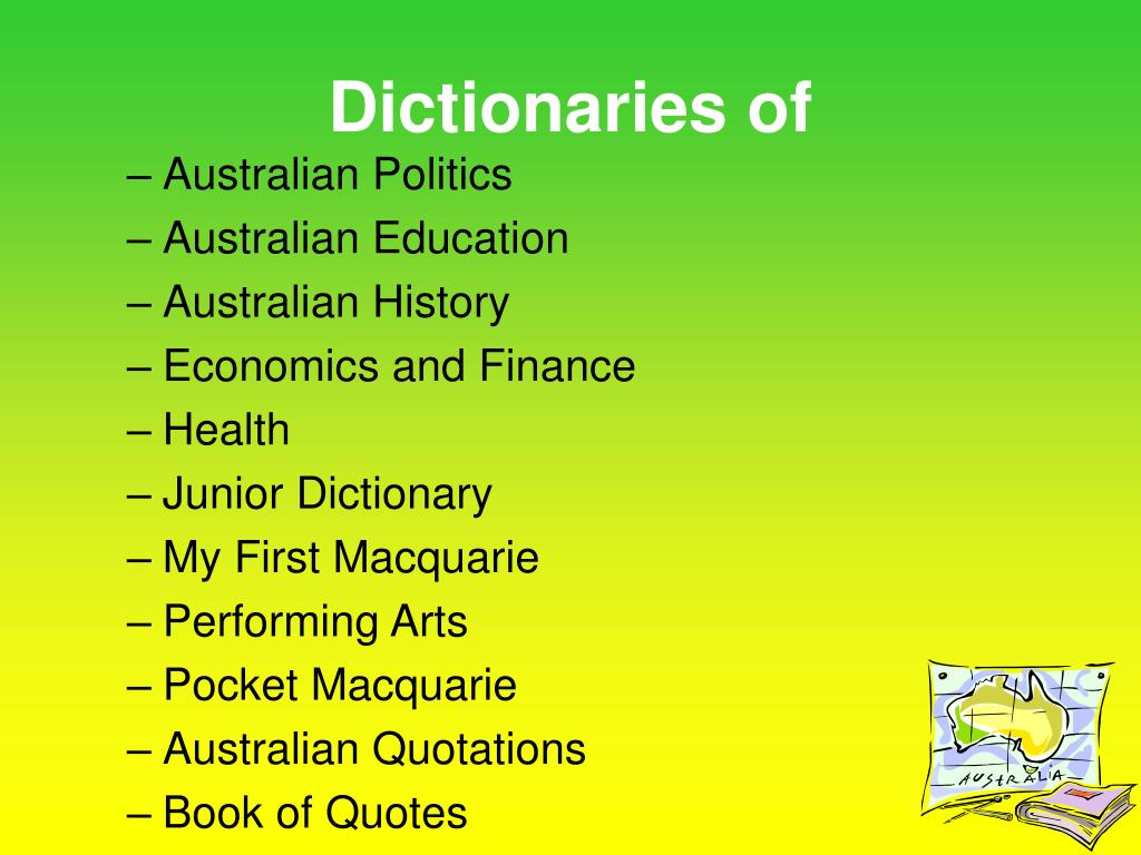 Dictionaries of
