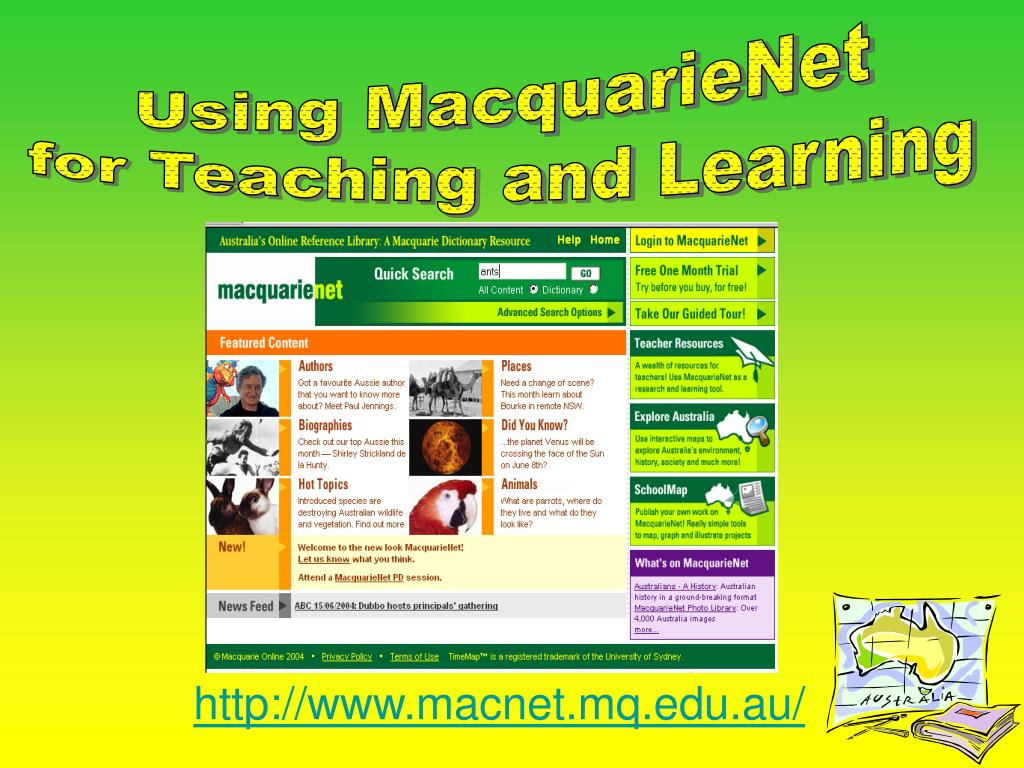Using MacquarieNet