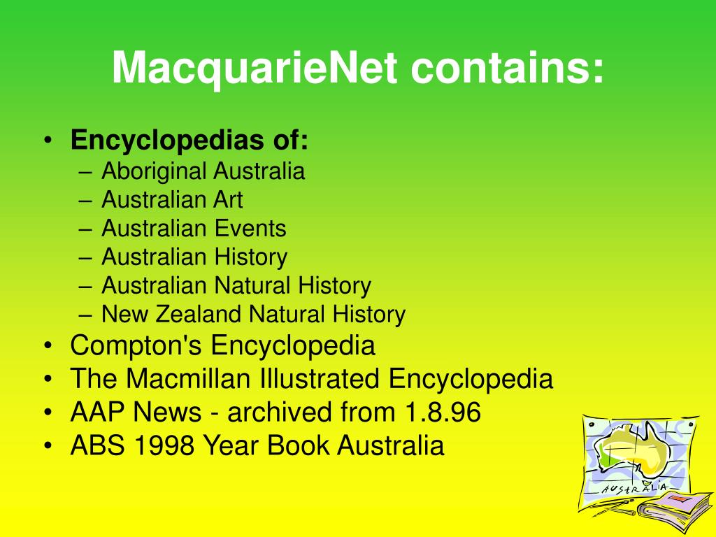 MacquarieNet contains: