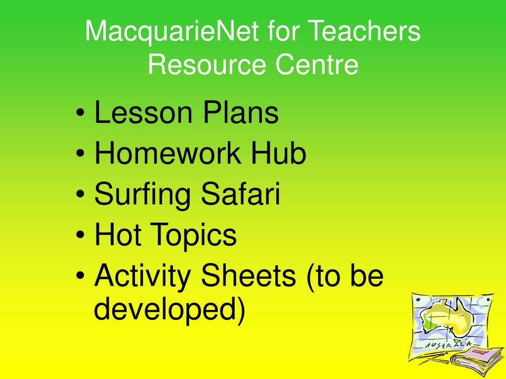 MacquarieNet for Teachers Resource Centre