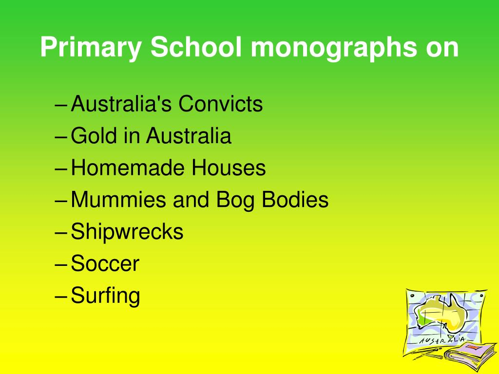 Primary School monographs on