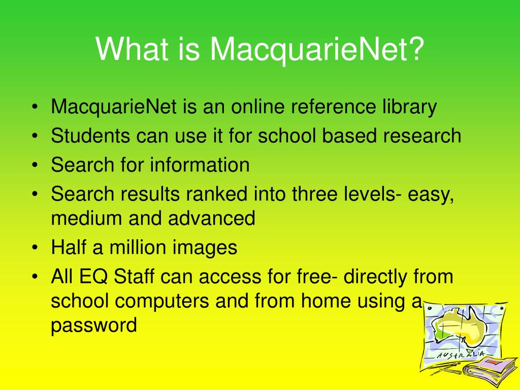 What is MacquarieNet?