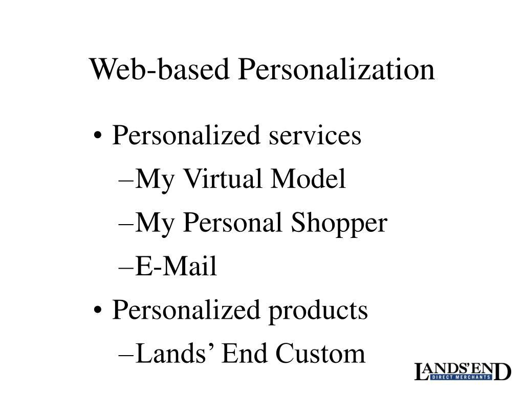 Web-based Personalization