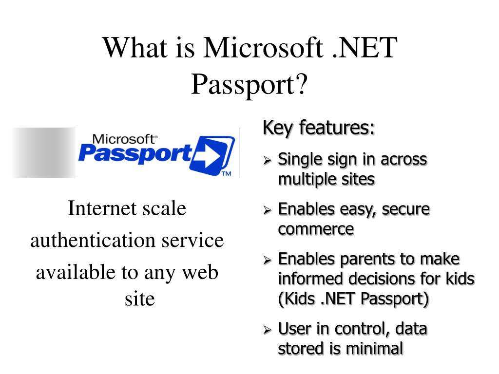 What is Microsoft .NET Passport?