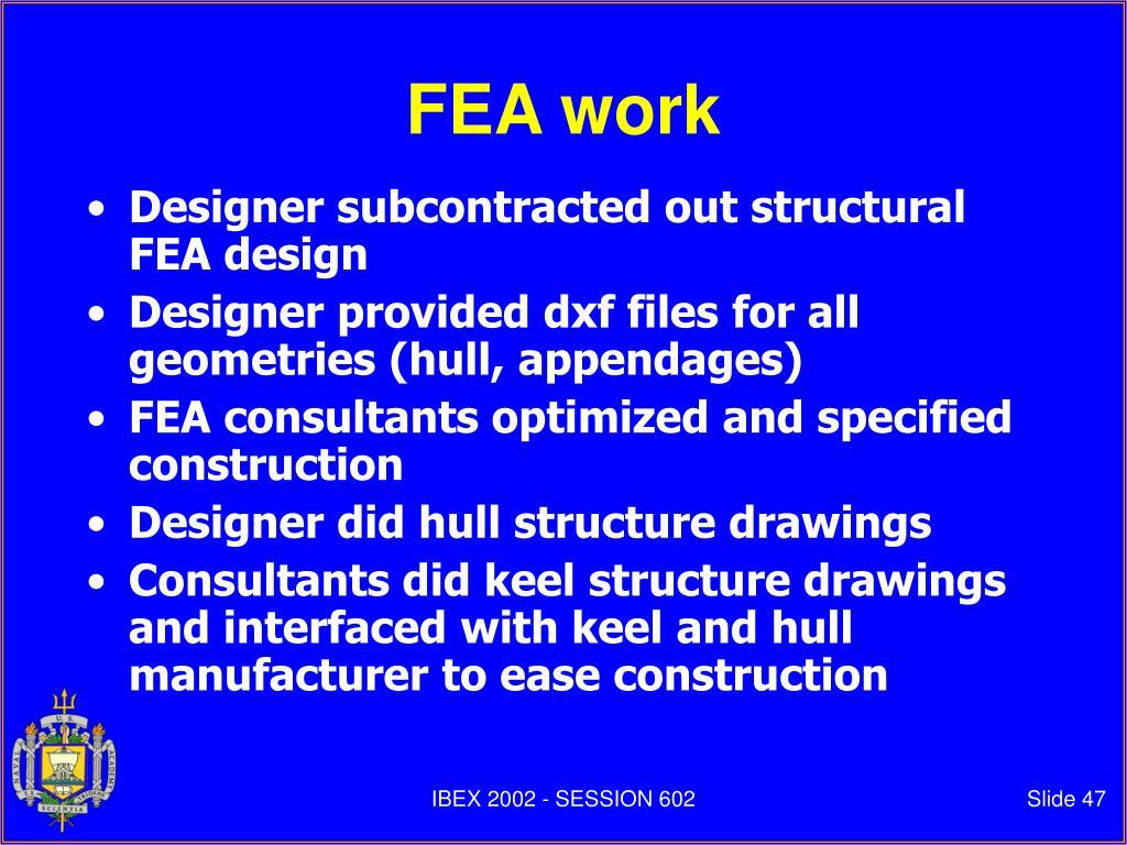 FEA work
