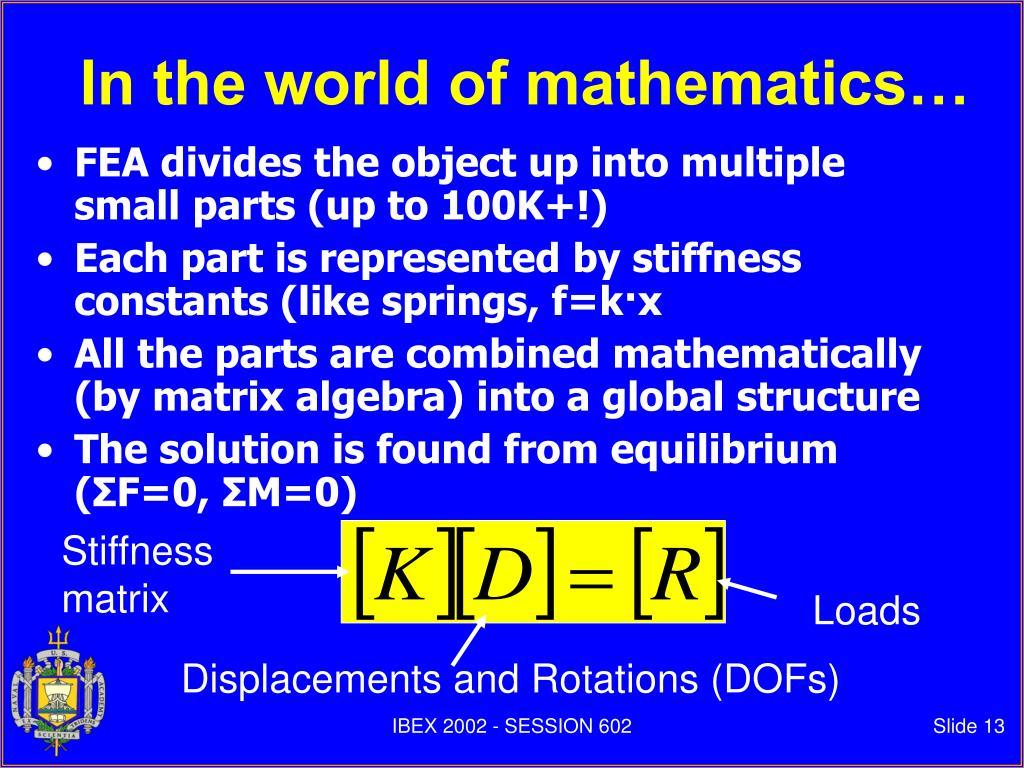 Stiffness matrix