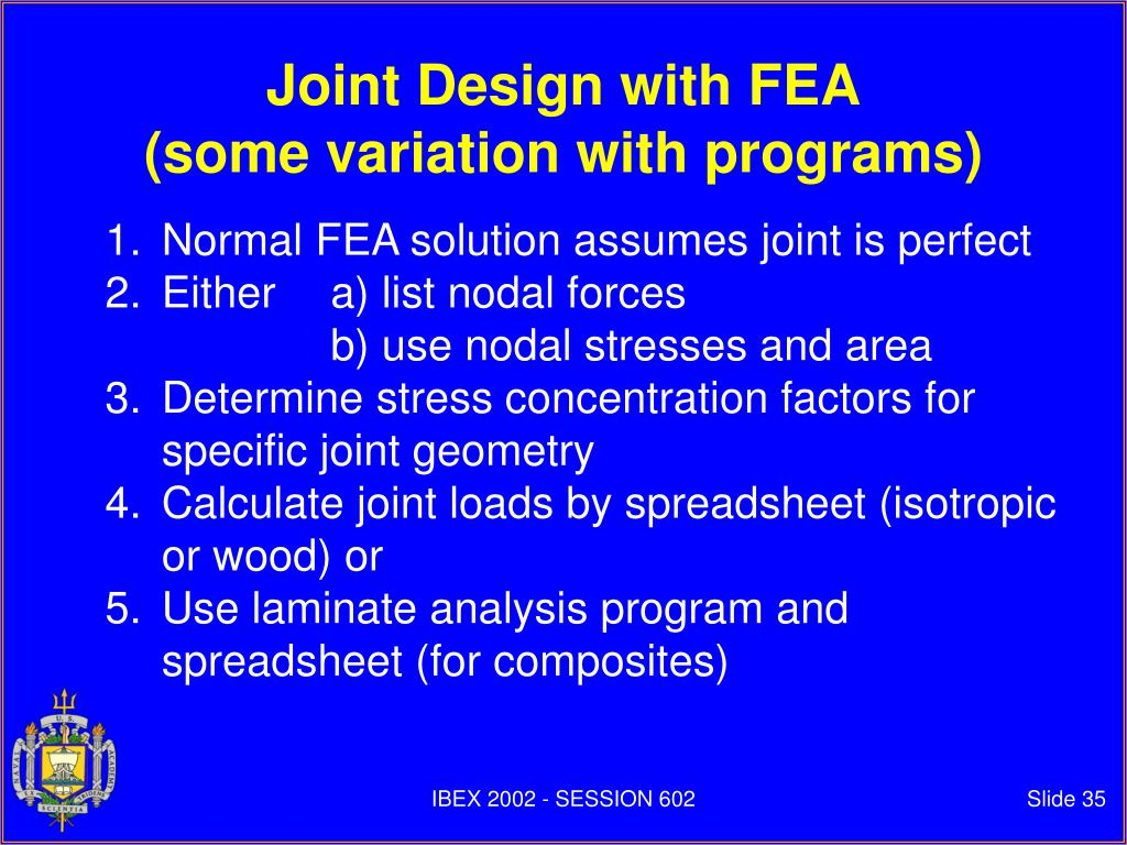Joint Design with FEA