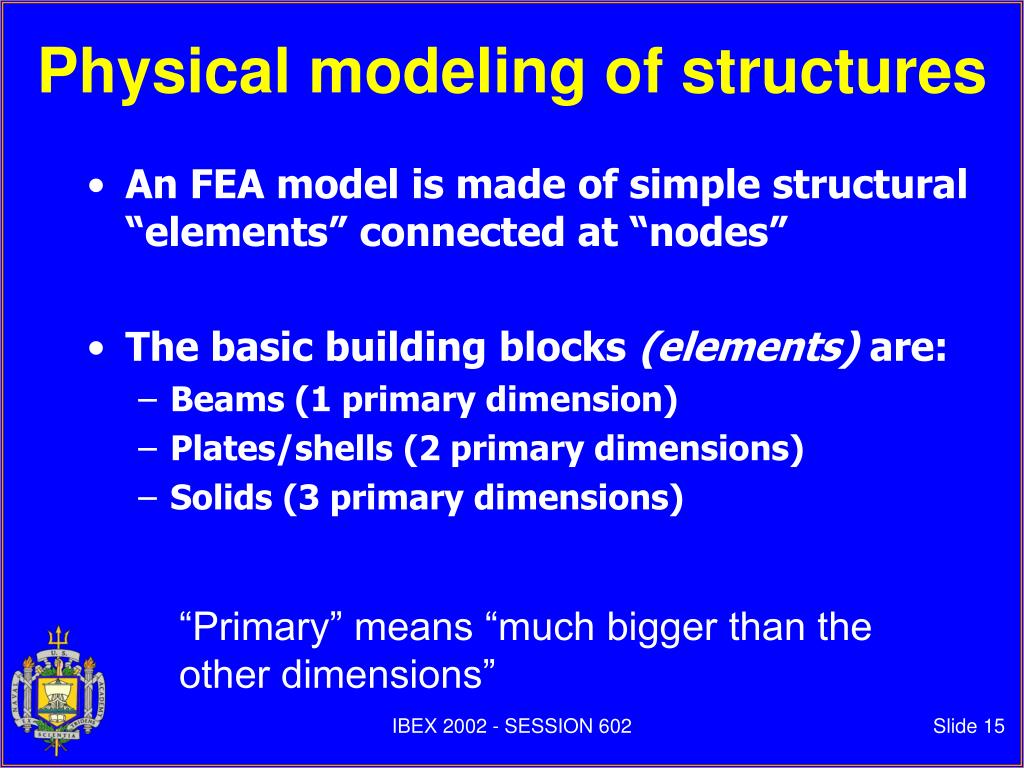 Physical modeling of structures