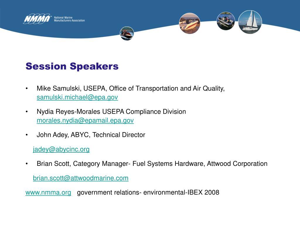 Session Speakers