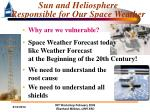 sun and heliosphere responsible for our space weather